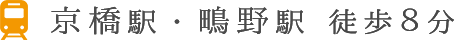 京橋駅・鴫野駅 徒歩8分